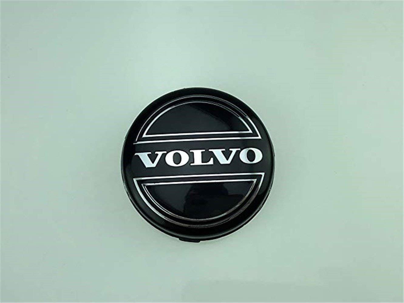 yongyong218 Juego de 4 tapacubos de Aleación para Llantas de Volvo, 64 mm, Negro, C70, S60, V60, V70, S80, XC90: Amazon.es: Coche y moto