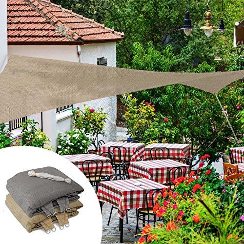 casa pura Sail Shade | UV Block Outdoor Canopy | Sun Shade for Patio and Garden | Rectangle | Multiple Sizes | Beige - 8' x 10'