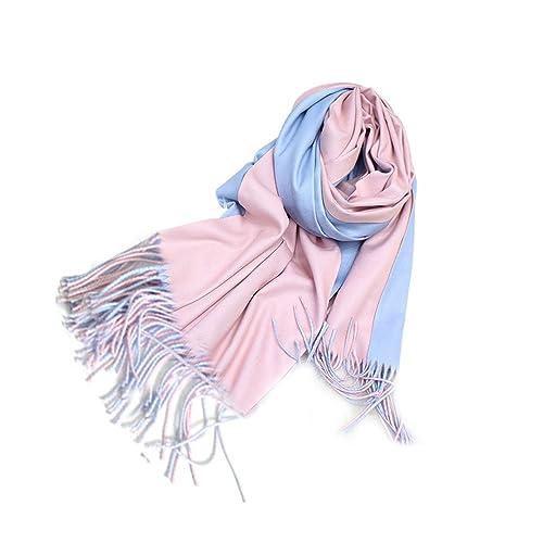 Tinksky Sencillo y lujoso pashmina bufanda chales suaves abrigos regalo de cumpleaños de Navidad par...