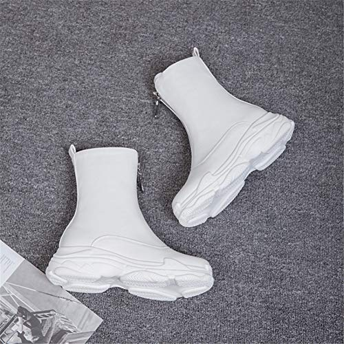 Bianco Bianco Bianco Cavaliere 46 Moda Boots Donna Polpaccio White 35 35 35 HN Pelle metà Stivaletti Inverno Mocassini Scarpe Zip Stivali Taglia Autunno Confortevole Nero Caviglia Y7wnSqR