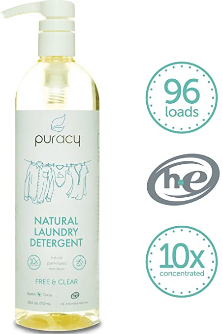 Puracy Natural Liquid Laundry Detergent, Sulfate-Free