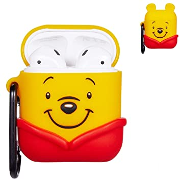 Amazon.com: Logee 3D Cartoon Case for Airpods A Winnie bear ...
