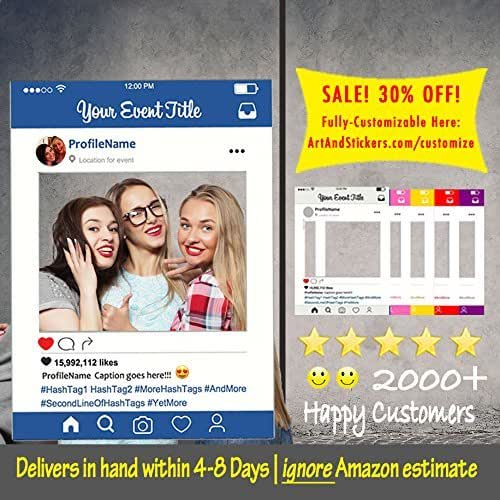 customized instagram frame cutout selfi prop instagram prop for graduation. Black Bedroom Furniture Sets. Home Design Ideas