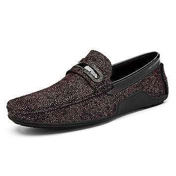 YAN Zapatos de Vestir para Hombres, Zapatos de Cuero de Inglaterra, Mocasines y Zapatillas