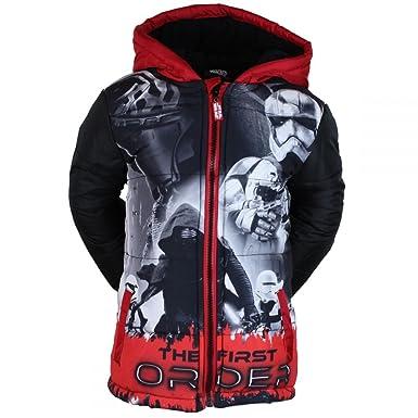 Star Wars Jungen Winterjacke Parka Jacke schwarz rot (98