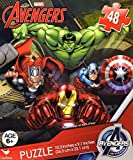 old avengers - Avengers 48 Piece Jigsaw Puzzle CAPTAIN AMERICA, HULK, THOR, BLACK WIDOW, HAWKEYE, IRON MAN and NICK FURY