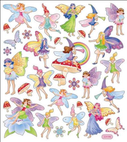 Multi-Colored Stickers-Fairy Fantasy (Fairy Photo Frame)