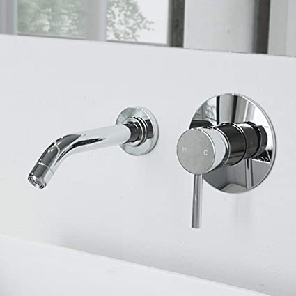 Vigo Vg05001ch Olus Wall Mount Bathroom Faucet Lavatory Faucet With
