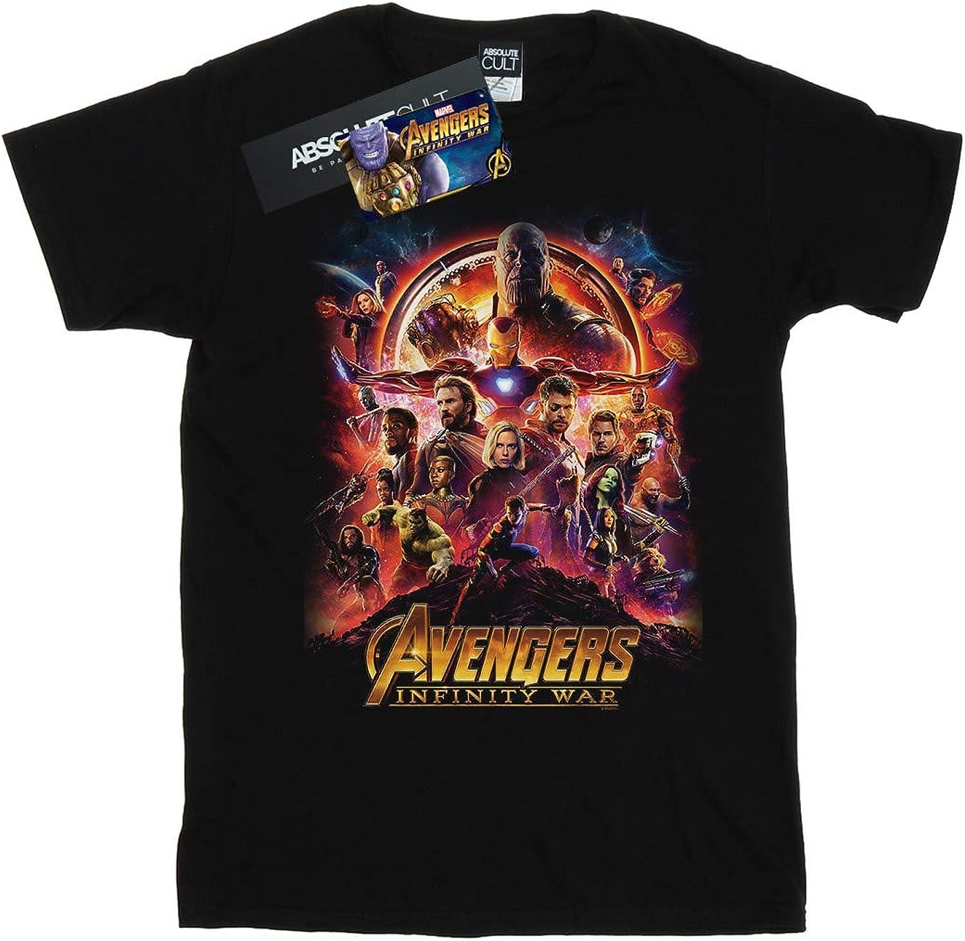 Marvel Ni/ños Avengers Infinity War Movie Poster Camiseta
