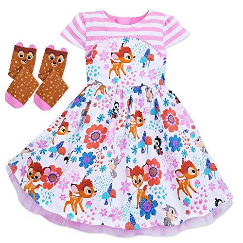 Disney Bambi Dress & Socks for Girls Furrytale Friends Size 4T -