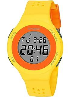 SYNOKE - Reloj Impermeable Digital Deportivo Unisex Hombre Mujer Adolescentes Estudiantes Chicos Reloj de Pulsera Luminoso