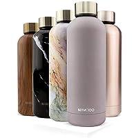 MAMEIDO drinkfles edelstaal - 500 ml thermosfles - lekvrij, BPA-vrij - geïsoleerde waterfles, dubbelwandige, slanke…