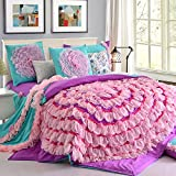 Sky City Purple Duvet Cover Set Princess Bedding Girls Bedding Women Bedding Gift Idea, Full Size