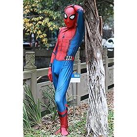 - 61Y1X 2BTuZ 2BL - Pizone Unisex Lycra Unitard Zentai Halloween Costumes Bodysuit Adult/Kids