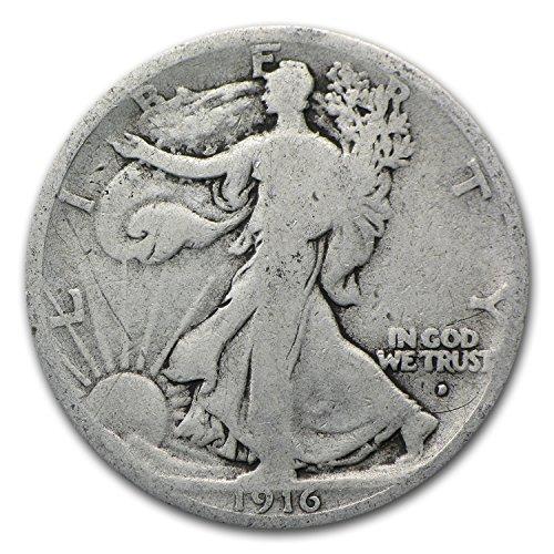 1916 D Walking Liberty Half Dollar Good Half Dollar (Walking Liberty Half Dollar Mintmark)