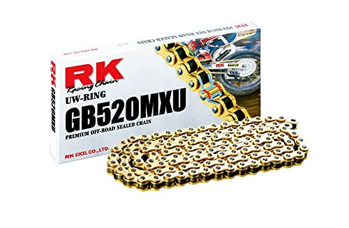 RK Racing Chain GB520MXU-120 120 Links MX Sealed MX Chain with Connecting Link