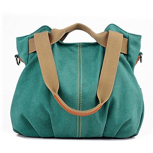 Aoligei Toile sac féminin mode rétro centaines tour épaule besace cabas grand mode G