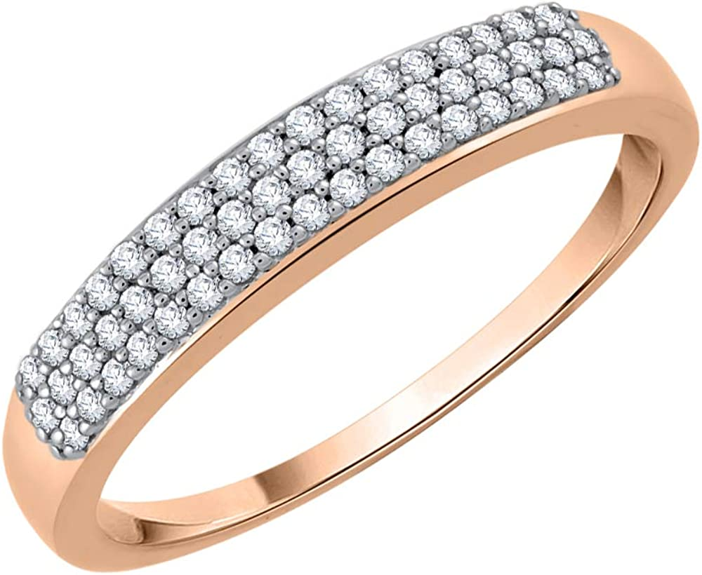 1//6 cttw, Size-12.25 G-H,I2-I3 Diamond Wedding Band in Sterling Silver
