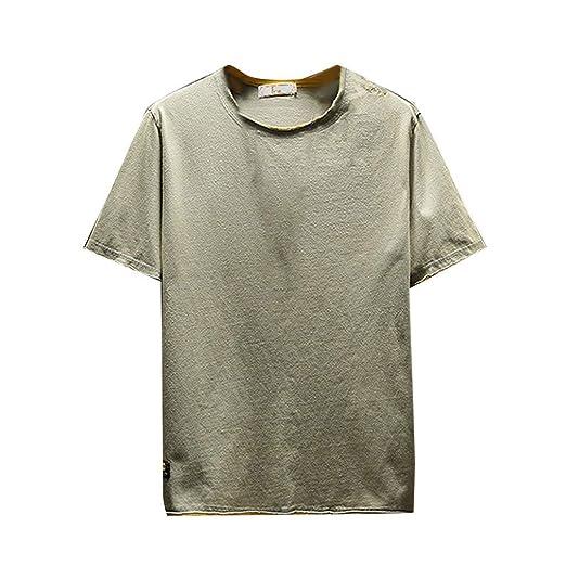 Camisetas informales de manga corta para hombre, con estampado de ...