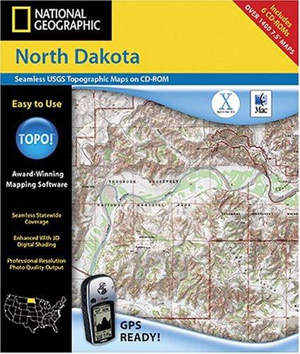 National Geographic TOPO! Map of North Dakota (Mac)