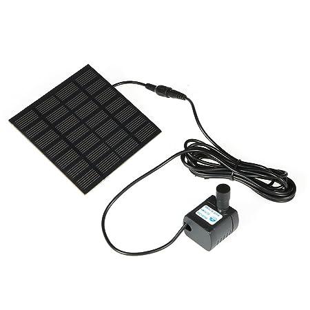 Decdeal Anself Solar-Powered Pump Solar Power Fountain Pool Water Pump Garden Plants Watering Kit