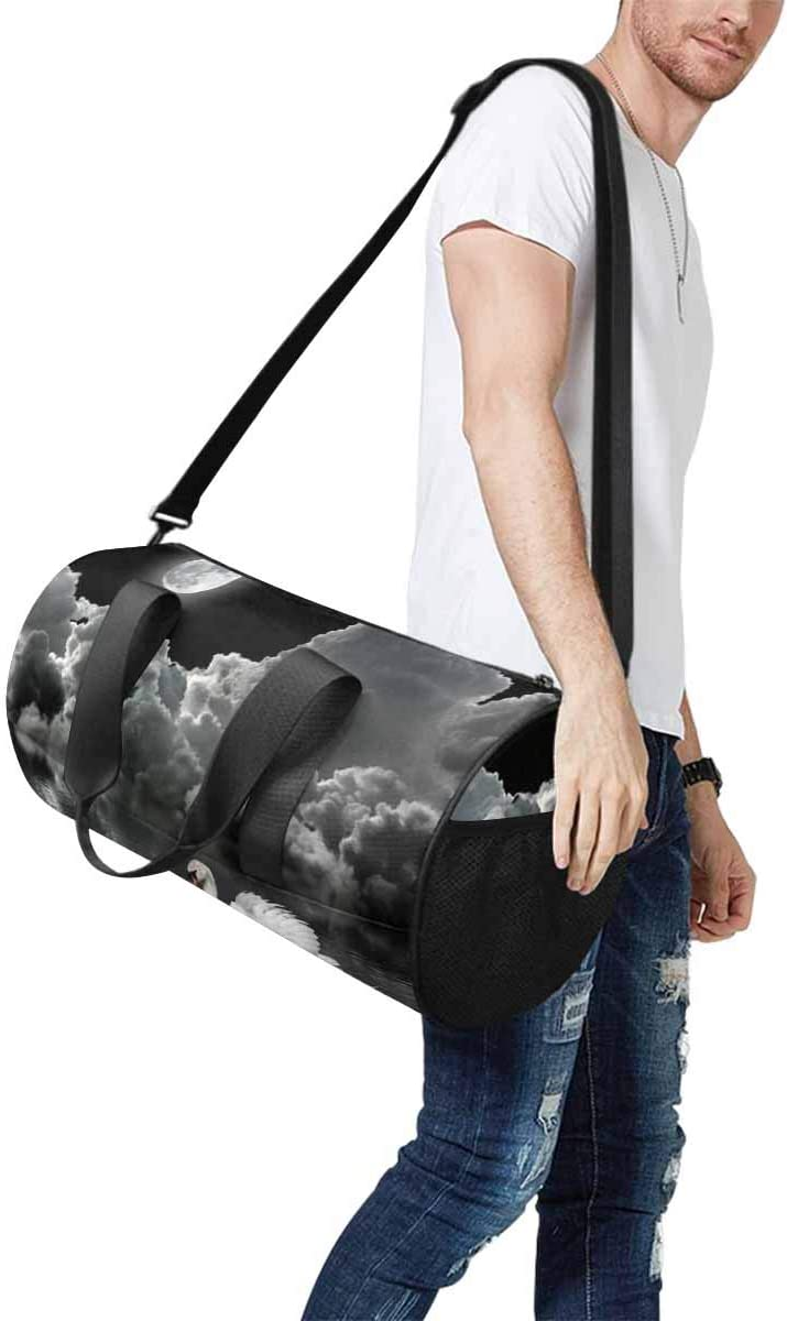 Sports Lightweight Luggage Duffel INTERESTPRINT White Swan Under the Moon Travel Duffle Bag
