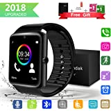 Bluetooth Smart Watch with Camera Touchscreen, Unlocked iPhone Smartwatch SIM Card Slot Watches, Waterproof