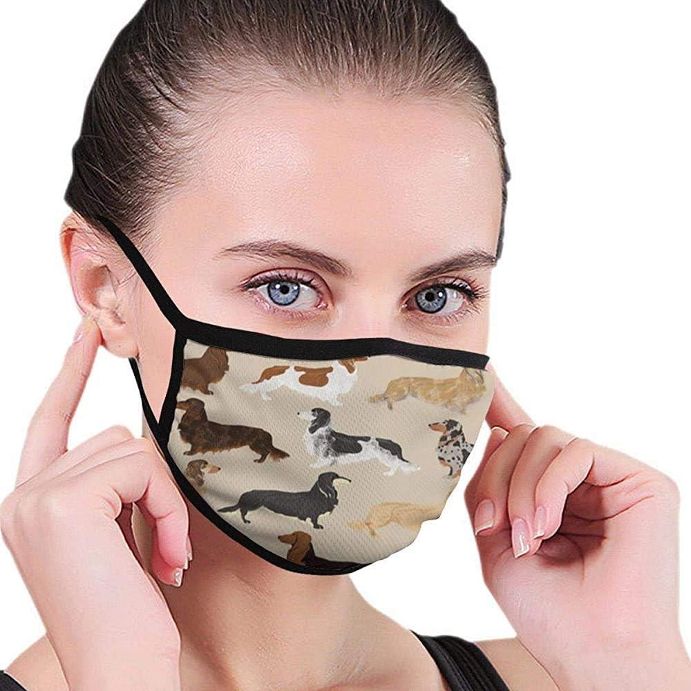 Dachshunds de Pelo Largo Perros Máscara Máscara de diseñador de la Boca Máscara Máscara Lavable de Belleza Lavable y Reutilizable con Banda elástica para el oído