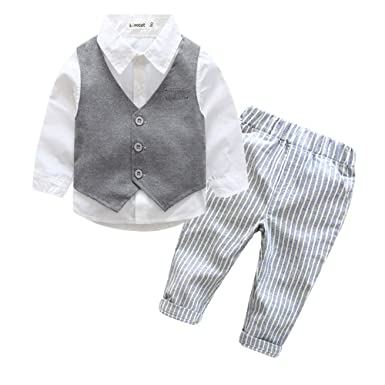 Amazon Com Gentleman Baby Boy Clothes Wedding Kids Clothes Shirt