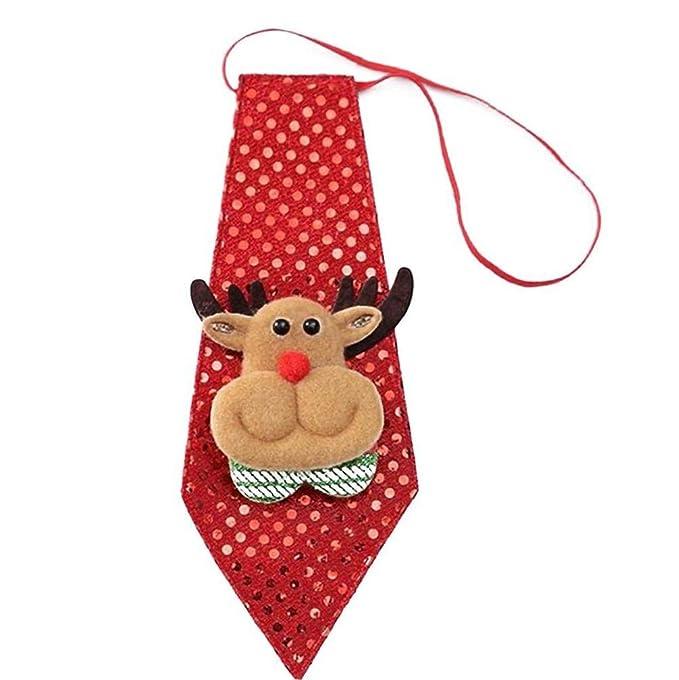 Navidad De Santa Elk Corbata Resplandor Nacktie Niños Accesorio ...