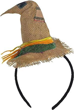 Forum Novelties – Mini Diadema con Sombrero de espantapájaros ...