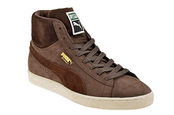 Puma BASKET CLASSIC MID N CALM Brown Suede Leather Men Sneakers Shoes