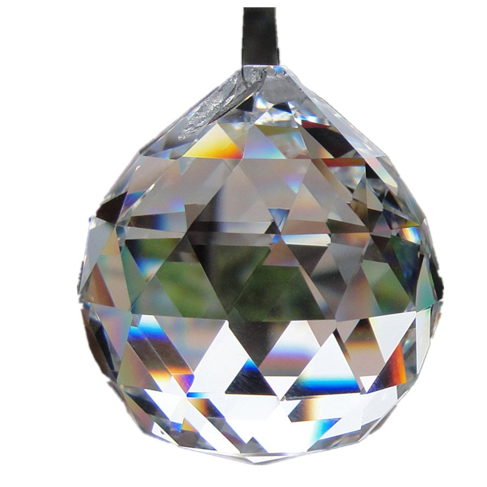 50MM Feng Shui HANGING CRYSTAL BALL Sphere Prism Rainbow Suncatcher Pendant DIY xiangshang
