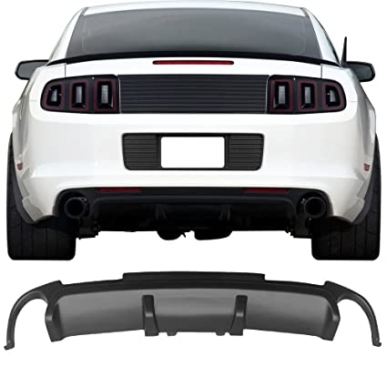 amazon com rear bumper diffuser fits 2013 2014 ford mustang