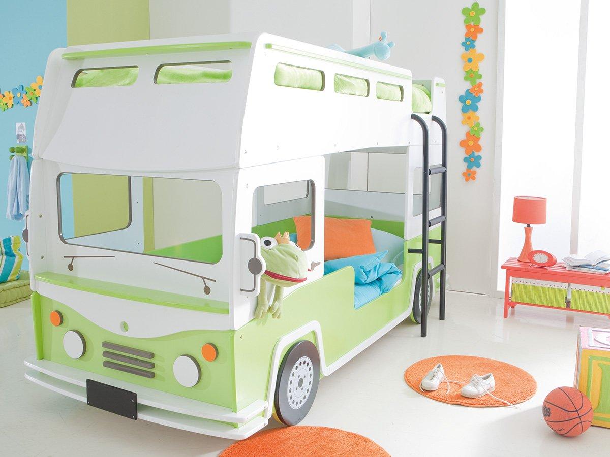 Spielbett  Etagenbett Autobett Bussbett Kinderbett Spielbett Autobus Bus Bett ...