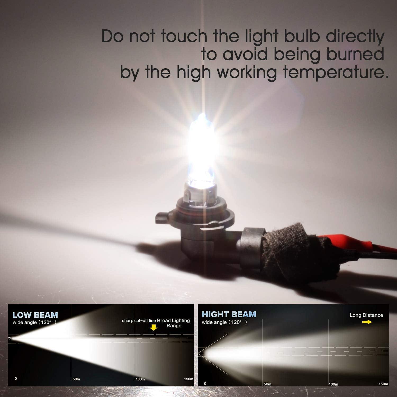 2 piezas TECTICO HS1 Bombilla hal/ógena para faro delantero 35W 5000K Blanco c/álido 12V Haz bajo//reemplazo para luz nocturna para autom/óvil