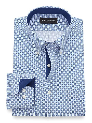 Paul Fredrick Men's Tailored Fit Non-Iron Cotton Button Down Dress Shirt