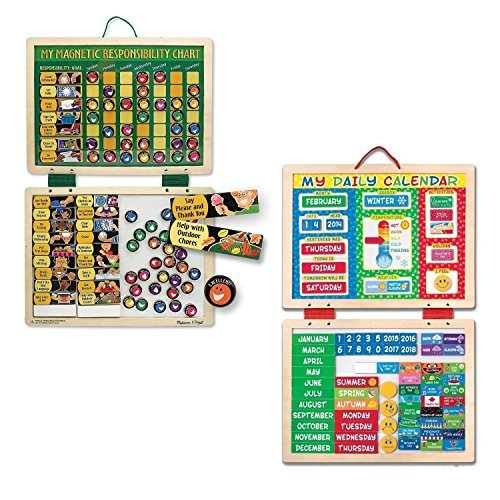 Melissa & Doug My First Daily Magnetic Calendar with Melissa & Doug Deluxe Magnetic Responsibility - Magnetic Chart Responsibility Doug