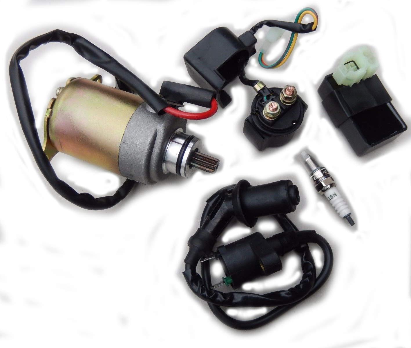ELECTRICAL Rebuilt KIT HAMMERHEAD TWISTER 150CC GO KART CART CDI Ignition COIL STARTER Solenoid Spark plug