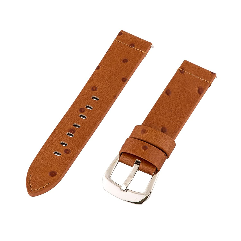 Clockwork Synergy Dapperコレクション – 22 mmサドルOstrich Grainレザー腕時計バンド  B01KMKAY4O