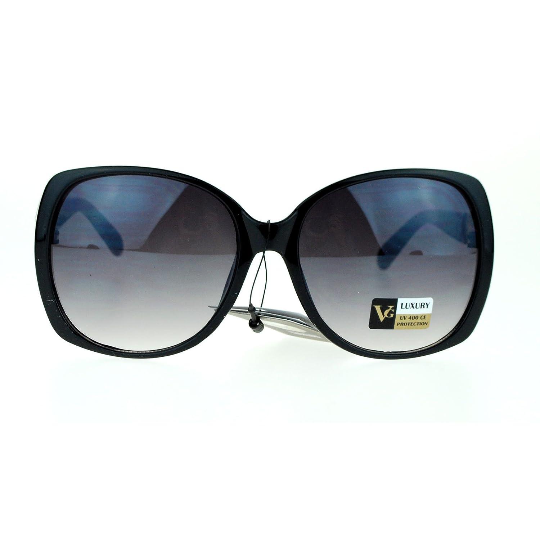 VG Eyewear Womens Bling Metal Buckle Hinge Large Butterfly Diva Sunglasses