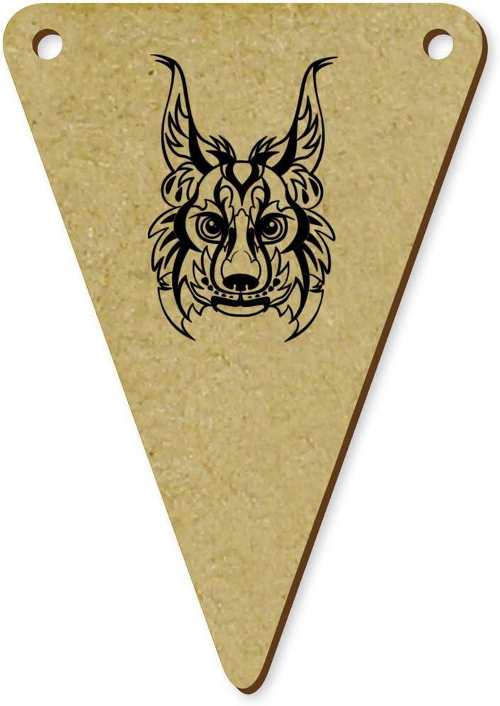 Azeeda 5 x 70mm Cabeza de Lince Tribal Banderines / Banderas (BN00038191): Amazon.es: Juguetes y juegos