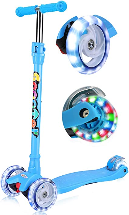 Amazon.com: OUTON Kick Scooter para niños 3 ruedas Lean a ...