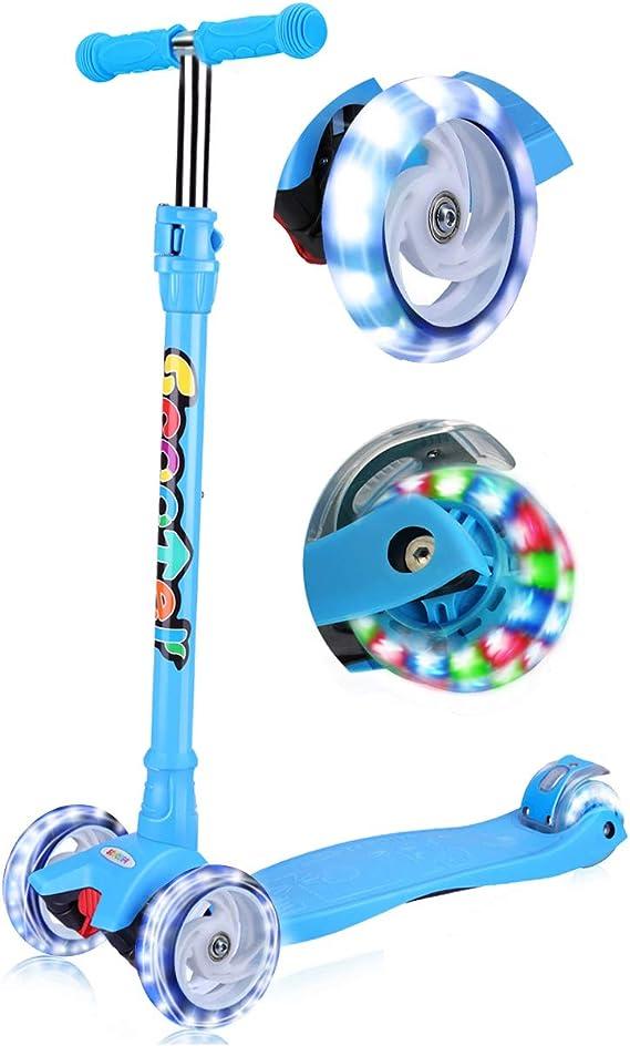 Amazon.com: OUTON Kick Scooter para niños 3 ruedas Lean a ...