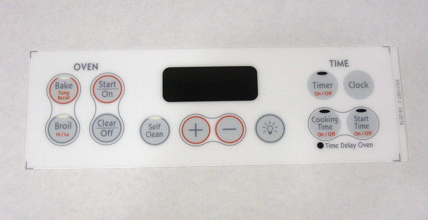 Oven Clock Overlay Pad WB27K10170 for GE ERC Range Control