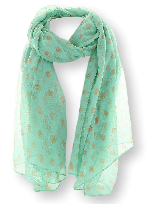 JuJu's Women's Fashion Scarf Sheer Floral Dot