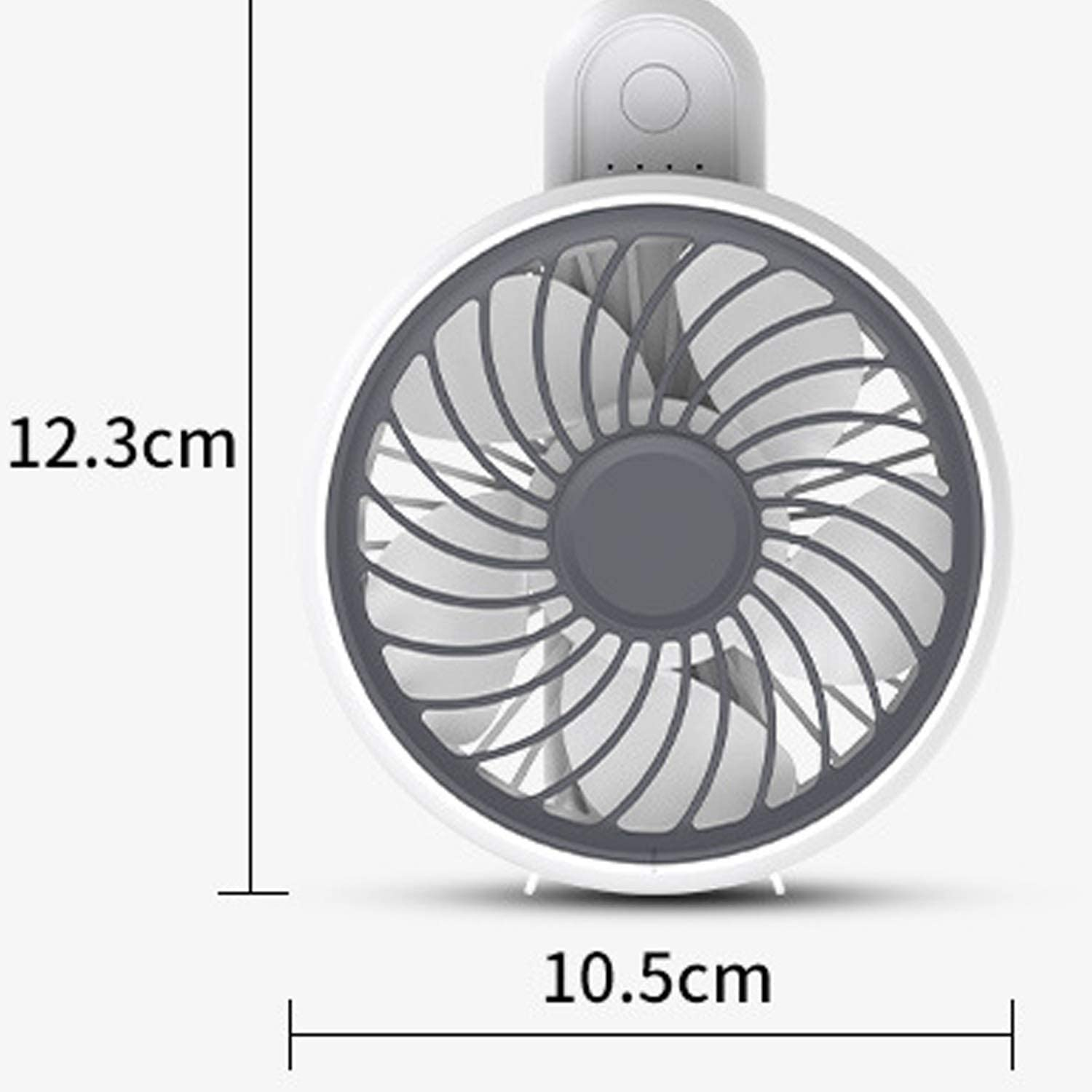 Color : Green Mini Portable Cooling Fan USB Folding Small Fan Rotatable Desktop Fan Mini Rechargeable Handheld Portable Fan