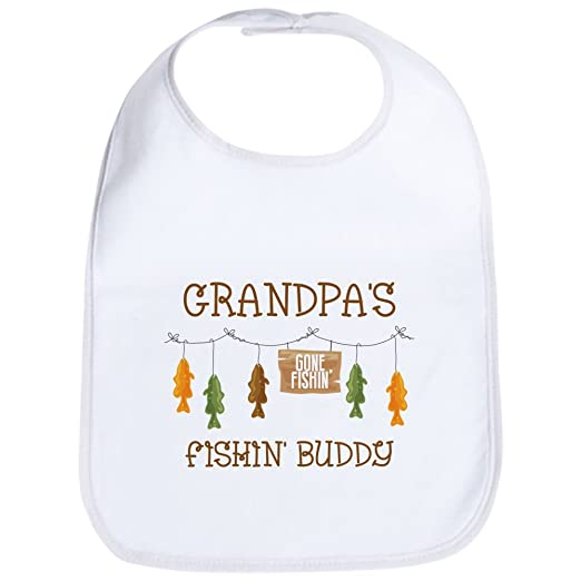 4730c9d949f Amazon.com  CafePress - Gone Fishing Line Grandpa Bib - Cute Cloth Baby  Bib