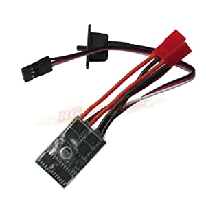Hobbypower Rc ESC 10a Brushed Motor Speed Controller for Rc Car Boat W/o Brake