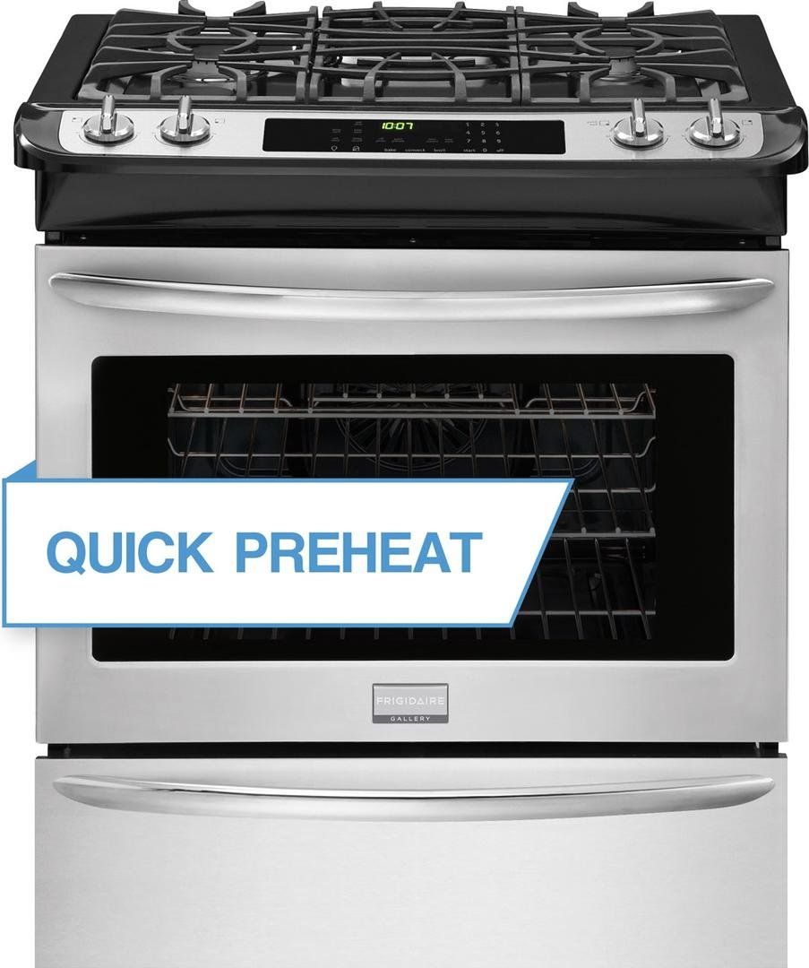 Frigidaire Gallery Series FGGS3065PF 30'' Slide-In Gas Range with 4 Sealed Burners in Stainless Steel